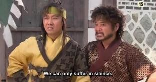 24. Jumong and the guys caught in the trap.