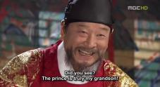 Mr. Lee Soon-Jae as King Yeongjo, the king that Geum came to be