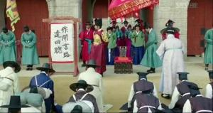 Confucian scholars dialogue with the king at the palace gate _ep16