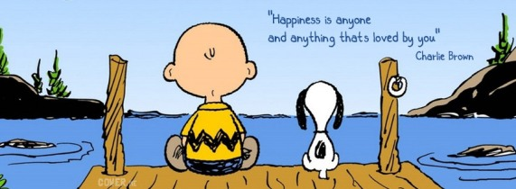 happiness is by Charlie Brown
