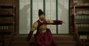 King Lee Do slips on the stairs seeing Prince Gwangpyung is safe