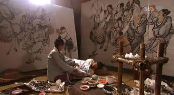 g.  Dan Won helps Yun Bok heal by painting _Painter of the Wind (11)