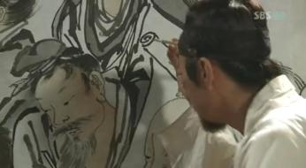 g.  Dan Won helps Yun Bok heal by painting _Painter of the Wind (8)