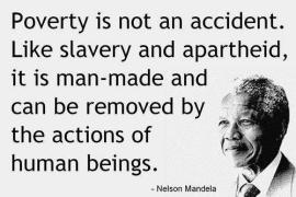 5.  Mandela on poverty