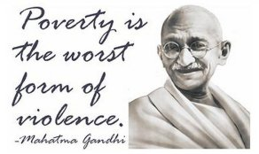 7.  Mahatma Gandhi on poverty