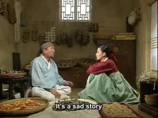 Jang-geum and her adoptive father Dukgu