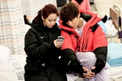 Emergency Couple- on the set