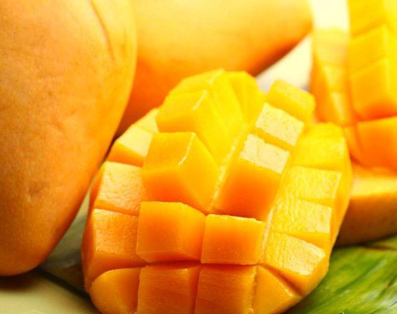 very sweet ripe Philippine mango, cut for easy bite