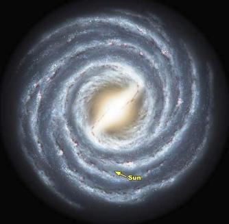 a Milky Way representation from i.space.com