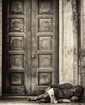 """""""Knock And It Shall Be Opened"""" black-and-white, by Voltaire Siacor"""