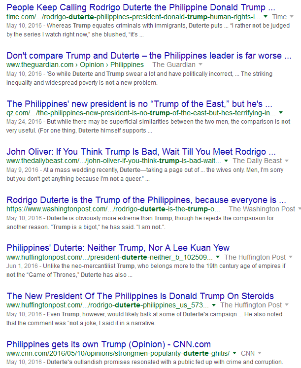How the Ignorant Liken Duterte to Trump