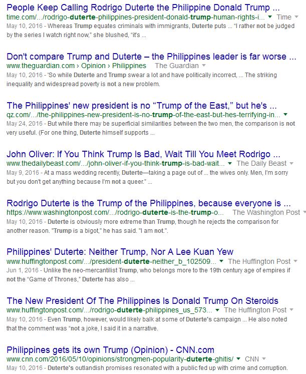 How the Ignorant Liken Duterte to Trump